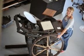 The 1936 letterpress machine found on averanda