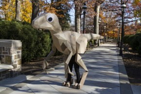 The 15ft Origami Dinosaur with GooglyEyes