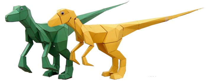 Origami dinosaur raptor - YouTube   275x700